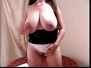 Babe with huge jugs and two cock fetish