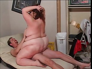Fat hottie loves to ride big cock