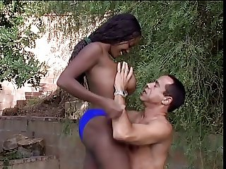 Ebony hottie wet for hard cock