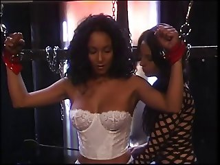 Jenna explores interracial BDSM lesbian fetish spanking