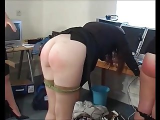 Lots of pretty girls naked bottoms caned compilation