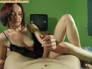 Teasing handjob and blowjob