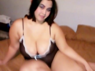 Pregnant Asian wife showing her thick sexy curvy ass with busty large tits