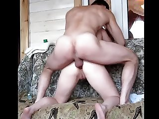 Russian girl moans from anal sex