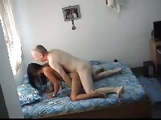 asian girl and old man
