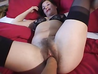 Fisting Wife very Hairy Pussy