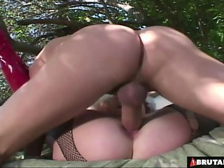 BrutalClips  Nasty Slut Roughed up by 2