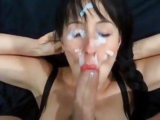 Slut wife have blowjob and cumshot