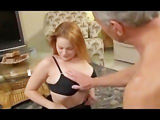 Red Head With Very Big Natural Tits