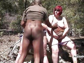 Samime watches as a Black guy fucks her GF