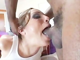 Amber Rayne Gets Throatfucked by a Huge Black Dick