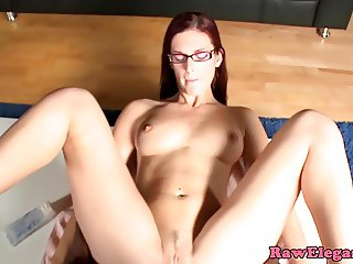 Buttfucked glamour babe loves black cock