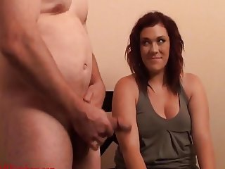 Wanker with Girl in Army Green Top