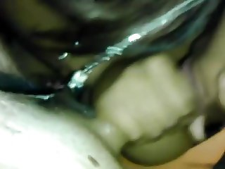 Ebony Sucking and Taking Load On Her Tits