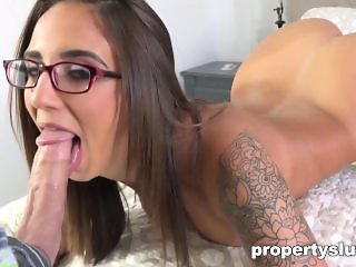 Propertyslut- Hot Agent fucked hard by Client
