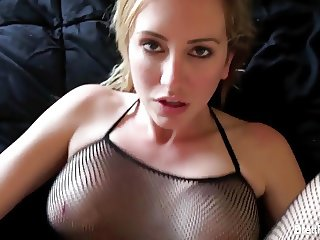 POV fucking action with busty blonde Brett Rossi