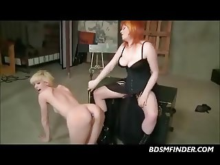 Lesbian Spanking And Strap On Fuck