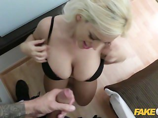 Fake Cop Policeman fucks big booty blonde latina