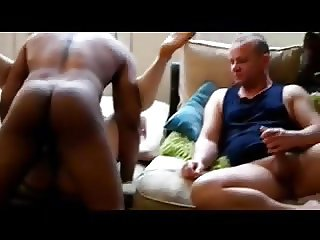 Hubby watching his WIFE fucked by a BLACK COCK