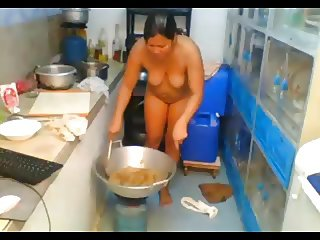 Asian cooking naked