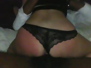 White girl fucked from behind
