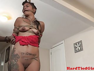 Restrained Chillycarlita flogged and toyed