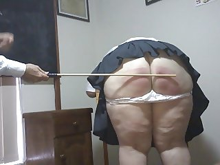 Tiana caned at Caning College Queensland