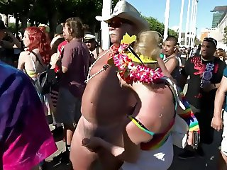 Naked at SF Pride
