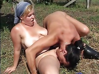 Chubby sexy chick getting fucked in the farm TTT