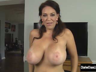 Busty Charlee Chase Sucks Cock in Puffy Winter Coat