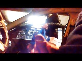 Car Flash blonde bitch gets scared when i cum