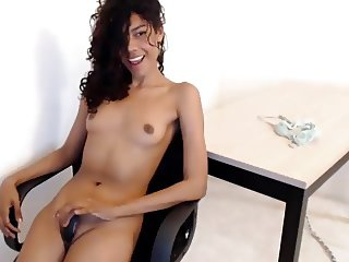 flat-chested latin cam-bitch