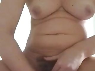 Frigging my wet hairy pussy ( part one )