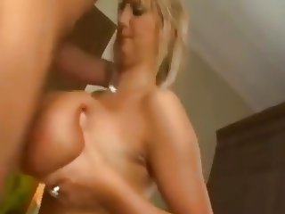 Busty girl gets pounded, titty fucked, and big load!