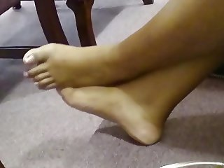 My Friend's Candid Beautiful Ebony Feet in Church 10