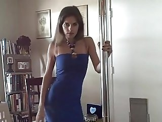 Lusty MILF smokes and teases