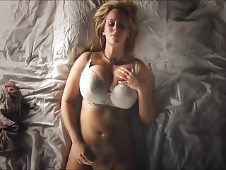 Innocent Blondie Masturbates