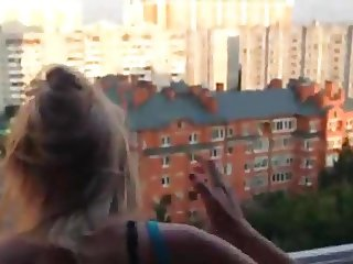first fucked in the room then to the balcony