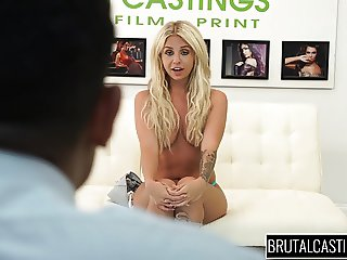 Teen wannabe model Madelyn Monroe gets her pussy destroyed