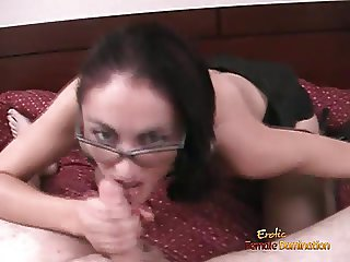 Alicia interviews for her office job by giving a blowjob
