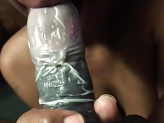 Blowjob with condom