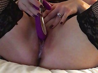 Gorgeous Blonde having Orgasms with her vibrator
