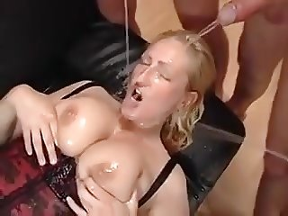 Gangbang With Busty Blonde