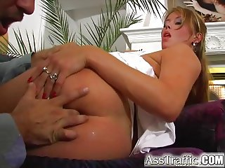 Ass Traffic Krystal and Luisa have hot foursome. Get butt