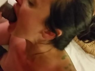 My husband enjoys to watch me fuck and suck his friends cocks