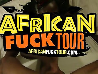 Annas tight African pussy gets stretched