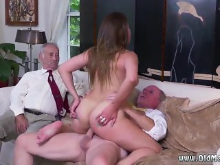 Old husband young wife anal and old man