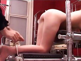 Sweety girl gets spanked and cum with vib