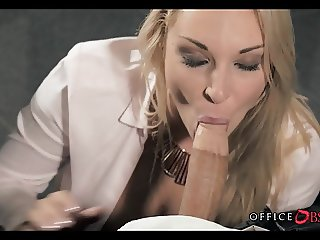 Blonde MILF is Horny as Fuck at Work