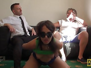 UK sub slut deepthroated while tiedup